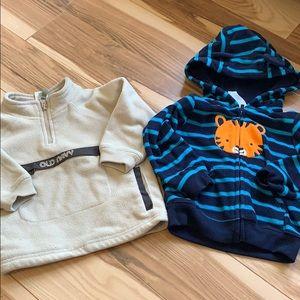 Other - 2 Baby boy fleece tops